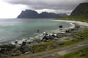 Vestvågøy - Utakleiv beach.