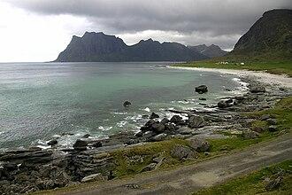 Vestvågøy - Uttakleiv beach.