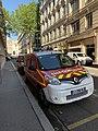 Véhicules de pompiers, rue Rabelais (Lyon) (2).jpg