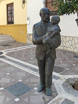English: Statue of Blas and María Zambrano, Vé...