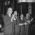 V.l.n.r. mr. L.D.W. Schreuder, mr. Kranenburg , minister Diepenhorst en mr. J. D, Bestanddeelnr 918-3177.jpg
