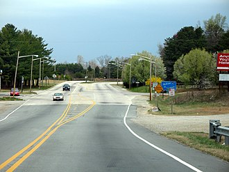 North Carolina Highway 86 - NC 86's northern terminus at the Virginia state line.