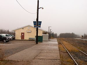 Thompson railway station - Image: VIA Rail Thompson