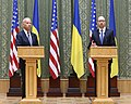 VP Biden and PM Yatsenyuk, Joint Statement, Kyiv, Ukriane, April 22, 2014 (14001114263).jpg