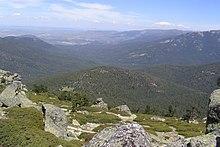 Valle de Valsaín, as seen from Siete Picos