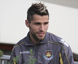 Behrami Pictured At Upton Park West Ham Uniteds Ground On