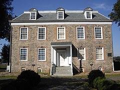 Facade of the historic Van Cortlandt House