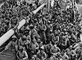 Vanuit Suriname arriveren Nederlanders, Caribische Indianen, Creolen, samen met Javanen en Hindoestanen in Australië 1944.jpg