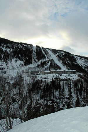 Operation Freshman - The Vemork hydroelectric plant in snow in 2008