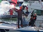 Vendée Globe 2008-2009 Steve White sur Toe in the Water (arrivée aux Sables d'Olonne) 2.JPG