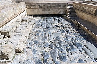 Via Domitia - Narbonne: Via Domitia uncovered in front of the Archbishop's palace
