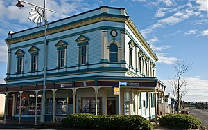 Inglewood, New Zealand - The Shoe Store Building, a Victorian commercial building in downtown Inglewood with a Category II heritage listing