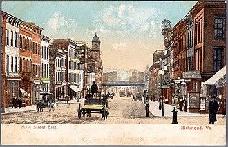 History of Richmond, Virginia - East Main Street, ca. 1900