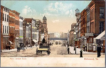 English: Looking east on Main Street, Richmond...