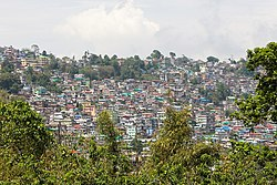 Kalimpong city as viewed from Elgin Hotel