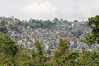 Kalimpong Town in West Bengal, India