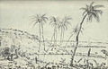 View of fish ponds at Pearl Harbor in 1826, sketch by Robert Dampier.jpg