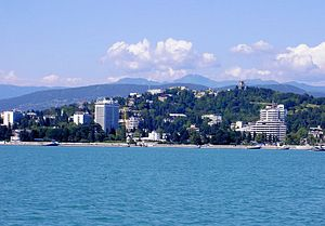 Sochi - Sochi seen from the Black Sea
