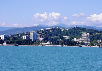 Krasnodar Krai - Image: View on Sotsji from black sea