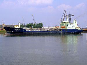 Vikland - IMO 9111759 - Callsign C6UL5 - Vikland p3 approaching Port of Rotterdam, Holland 03-Jun-2007.jpg