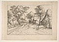 Village Road with a Farm and Sheds, from the series, The Small Landscapes (Multifariarum Casularum) MET DP818232.jpg
