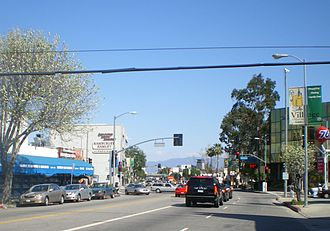 Van Nuys Boulevard - Image: Village of Sherman Oaks Van Nuys Blvd. at Ventura