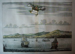 Larache - A view of the port of Larache around 1670.