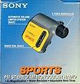 Vintage Sony Sports FM Stereo-AM Walkman Monocular Radio, Model SRF-X90, 8 Times Monocular, Made In Taiwan (12950198084).jpg