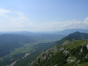 Vipava Valley - Image: Vipava valley from Nanos
