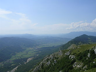 Alboin - The Vipava Valley in Slovenia, through which Alboin led the Lombards into Italy