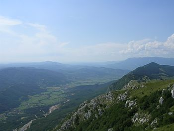 The Vipava Valley in present-day Slovenia on the route of the Longobards to Italy