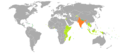 Visa requirements - Indian passport holders.png