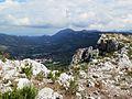 Vista de la Vall de Gallinera des de prop de la penya Foradada.JPG