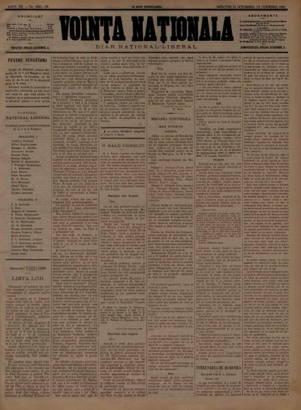 File:Voința naționala 1890-10-31, nr. 1825.pdf