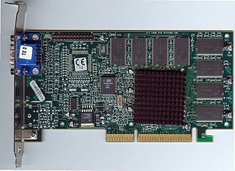 Graphics processing unit - Voodoo3 2000 AGP card
