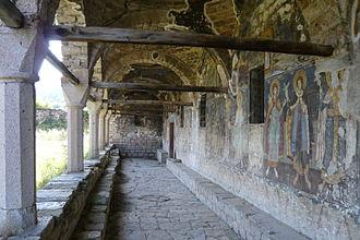 Moscopole - Decorated exonarthex of St. Athanasius' Church