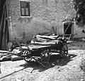 Voz z drvmi, Koritnica 21, pri Tomažinu 1952.jpg