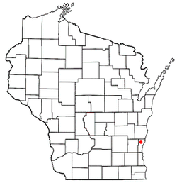 Location of Fredonia, Wisconsin