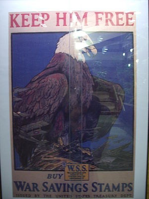 English: US World War I poster. One of a serie...