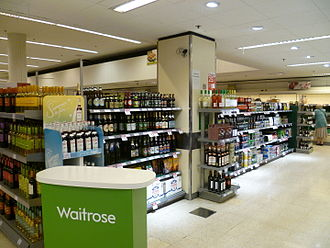 John Lewis Partnership - Interior of a Waitrose store in Enfield