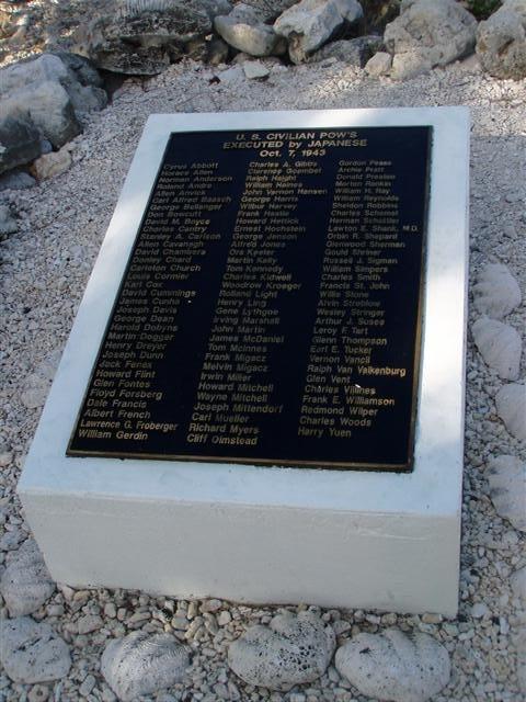 Wake island WWII Civilian memorial
