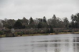 Rinn Lough - Image: Walled gardens from far side of Lough Rynn