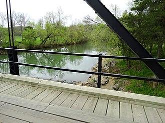 War Eagle Creek - War Eagle Creek from the War Eagle Bridge in War Eagle, April 2015