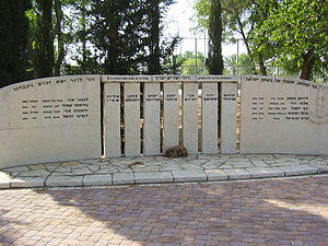 Mishmar HaShiv'a - A memorial to the seven guards.