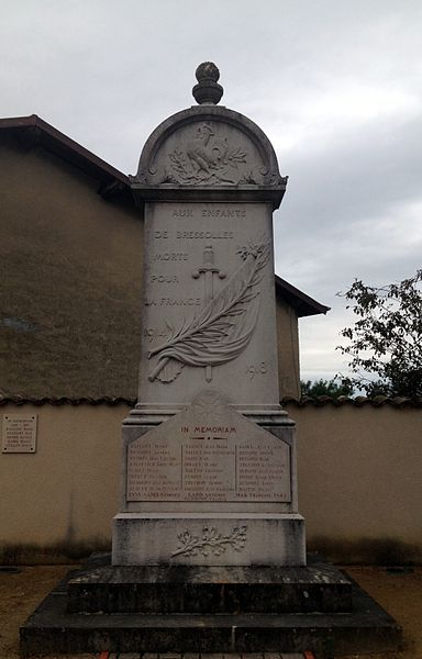 War memorial of Bressolles (Ain)