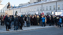 Warszawa, Pałac Prezydencki, protest ACTA 09