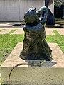 Water dragon hiding in a shade of a sculpture at Queensland Art Gallery, Brisbane.jpg