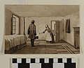 """Watercolor Painting, """"Room in Which Joseph and Hyrum Smith Were Imprisoned"""" by Frederick Piercy.jpg"""