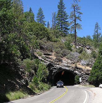California State Route 41 - East portal of Wawona Tunnel near eastern terminus of SR 41