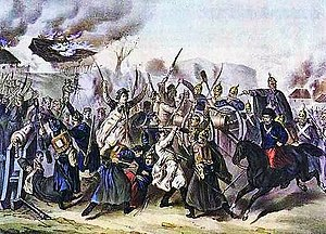 Russian Partition - Battle of Węgrów (1863), one of over 60 battles during the January Uprising